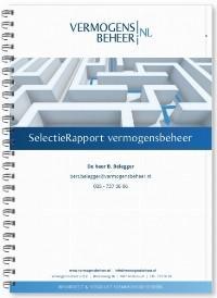Vergelijk het rendement van alle vermogensbeheerders in Nederland (dit helpt u bij de keuze voor de voor u beste vermogensbeheerder). Vraag kosteloos het SelectieRapport aan.